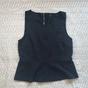 J. Crew Sleeveless Peplum Top Size L
